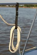 4 Pk Boat Railing Straps For Holding Rope On Boat / Yacht - Black Free Shipping