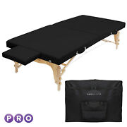 Portable Physical Therapy Massage Table - Stretching Treatment - Black