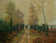 Richard De Bruycker - And039autumn Morningand039 - Oil Painting On Panel - Germany - 1948