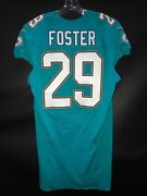 29 Arian Foster Miami Dolphins Game Used/issued Aqua Nike Jersey Sz-42 Yr-2016