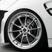 19 Savini Sv-f1 Forged Silver Concave Wheels Rims Fits Ford Mustang Gt
