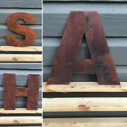 10 Inch Rusty Metal Letters And Numbers Shop Sign Home Combined Postage