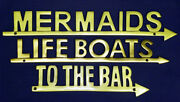 New Aluminum Signs With Polished Brass Finish Wall/door Plaques Nautical Decor