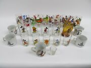 Large Lot Of Disney Collector Glasses / Mugs / Coffee Cups