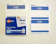 1800 Hello My Name Is Blue Name Tags Labels Badges Peel Sticker Avery Dennison