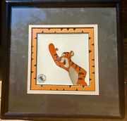 Walt Disney Original Hand Painted Production Cel Winnie The Pooh And Tigger Too