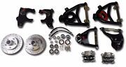 1955-1957 Chevy Front Suspension Drop Spindles Tubular Control Arms Disc Brakes