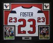 Arian Foster Autographed And Framed White Texans Jersey Jsa Coa D2-l