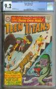 Teen Titans 1 Cgc 9.2 Cr/ow Pages // Silver Age Nick Cardy Cover 1st Issue