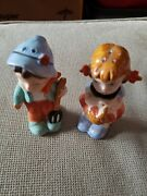 Vintage Hummel Looking Boy And Girl Salt And Pepper Shakers