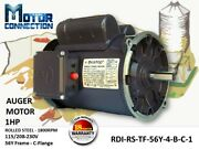 1 Hp Electric Motor Auger Motor 1800andnbsprpm Single Phase 56y Frame