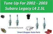 Tune Up For 2002-2003 Subaru Legacy Spark Plug, Air Oil Fuel Filter Pcv Wire Set