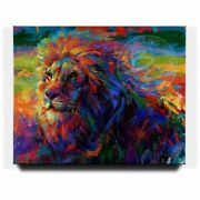 Blend Cota King Of The Jungle 48 X 60 S/n Le Gallery Wrapped Canvas