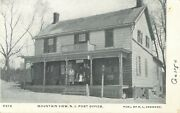 Postmaster And Staff Pose On Porch Post Office Mountain View New Jersey Nj 1907