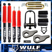 3 Front 3 Rear Lift Kit With Wulf Shocks For 2002-2005 Dodge Ram 1500 4x4 4wd