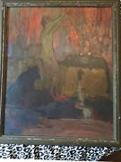 Gino Conti Antique Oil On Board Painting Famous Rhode Island Listed Artist Art