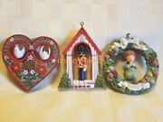 Hallmark 1976 1977 1979 Tree Trimmer Twirl-about Christmas Ornament Lot Dove Bh