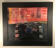 Gorgoues Abstract Painting By Listed Sw Artist John Axton. Highly Collectible.