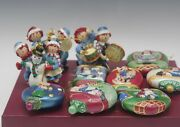 Danbury Mint Raggedy Ann And Andy Set Of 10 Ornaments With Storage Box