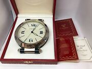 Pasha De Steel Desk Antique Clock Extremely Rare With Box And Papers