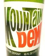 Vintage Acl Pop / Soda Bottle - Full Mountain Dew Of Johnstown Pa - 16 Oz Acl