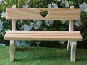 Dolls House Miniature 1/12th Scale Wooden Love Heart Bench Ga253