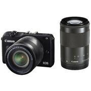 Used Canon Eos M2 With 18-55mm Is Stm + 55-200mm Is Stm Excellent Freeshipping