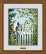 Special Delivery - Cats And Birds Framed Limited Edition Print By Persis Clayton W