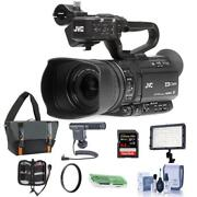 Jvc Gy-hm180 12.4mp 4k Ultra Hd Camcorder With Premium Accessory Bundle