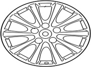4261a-53020 Toyota Wheel Disc For Front 4261a53020 New Genuine Oem Part