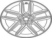 4261a-53341 Toyota Wheel Disc 4261a53341 New Genuine Oem Part