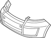 52119-12944 Toyota Cover Front Bumper 5211912944 New Genuine Oem Part