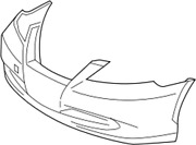 52119-33945 Toyota Cover Front Bumper 5211933945 New Genuine Oem Part