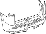 52159-35919 Toyota Cover Rear Bumper 5215935919 New Genuine Oem Part
