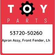 53720-50260 Toyota Apron Assy Front Fender Lh 5372050260 New Genuine Oem Part
