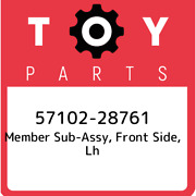 57102-28761 Toyota Member Sub-assy, Front Side, Lh 5710228761, New Genuine Oem P