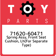 71620-60471 Toyota Spring Assy Front Seat Cushion Lhfor Separate Type 716206