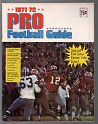 Pro Football Guide 1971-dell-team Rosters-player Bios-card Inserts-vf