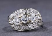 Vintage Diamond And 14 Kt White Gold Ring