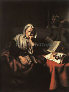 Maes Nicolaes Old Woman Dozing Artist Painting Reproduction Handmade Oil Canvas