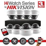 Hikvision Hilook 4mp Network Cctv System Poe 4/8ch Nvr Outdoor Dome Camera Kit