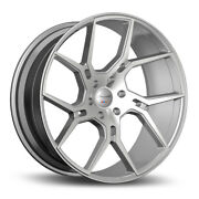 24 Gianelle Dilijan Silver Concave Wheels Rims Fits Cadillac Escalade