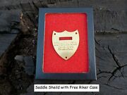 Calvary Saddle Shield With Free Display Case