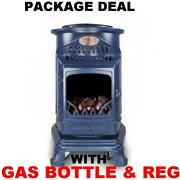 New Blue Provence Calor Portable Mobile Heater Complete Full Gas Bottle And Reg