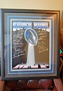 19 Super Bowl Mvp Autographs On 16x20 Lombardi Trophy Picture Rare Must See