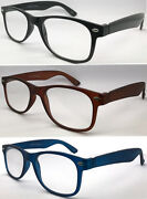L223 2 Pairs Only Andpound5.69 Classic Popular Designed Plastic Plain Reading Glasses