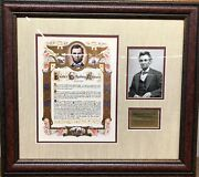 Abraham Lincoln, Gettysburg Address Deluxe Framed Photo Collage