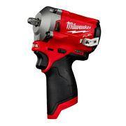 Milwaukee 2554-20 M12 Fuel Li-ion 3/8 In. Stubby Impact Wrench Tool Only New