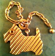 Vintage And Company Scottish Terrier Dog Key Chain Rare
