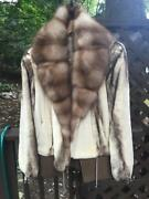 Mink Coat With Russian Sable Collar/ Us Size 8-10/ Made In Italy/ New